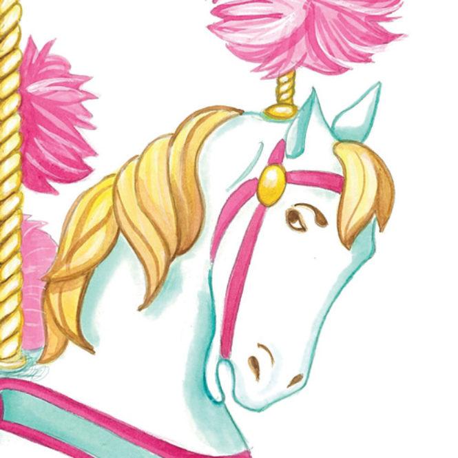 illustrazione t-shirt dettaglio cavallino